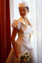 супермодное свадебное платье в стиле 60х!!!