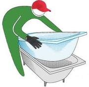 Акриловый вкладыш в ванну (вставка) и наливная ванна (жидкий акрил).