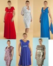 Вечерние платья для полных женщин до 62 размера производитель ТЕТРА