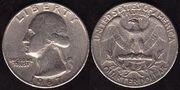 Продаю  монету Quarter dollar 1967 года выпуска ,  перевертыш,