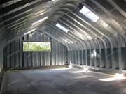 Ангар разборный арочный бескаркасный быстровозводимый со склада