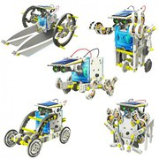 Обучающий робот-конструктор 14 в 1 на солнечных батареях