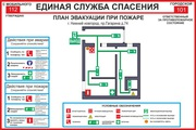 Планы эвакуации,  знаки безопасности