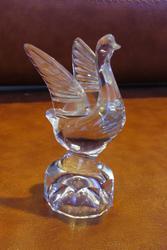 Продам стопку-статуэтку взлетающий лебедь из хрусталя.СССР